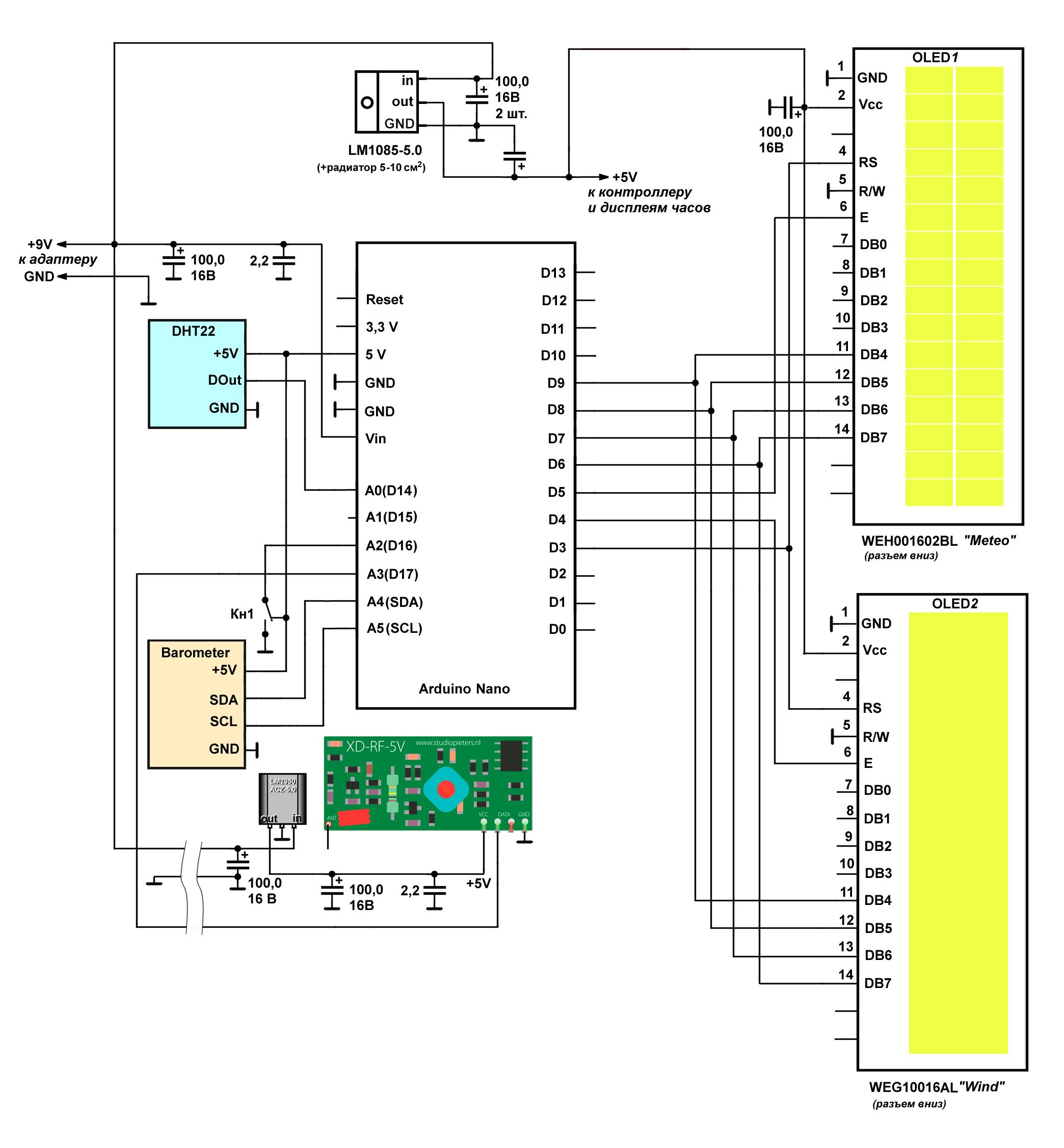 Замер ИТР-0211А - Приборы Схему для измерения температуры и влажности